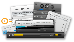 skinable online music player
